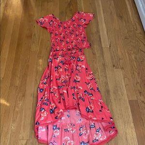 Girls skirt with matching shirt